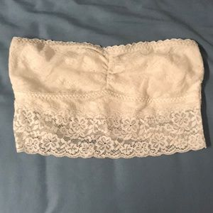 Gilly Hicks White Lace Unlined Bandeau